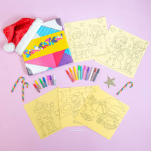 Load image into Gallery viewer, Boys Christmas 10pc Sand Art Craft Pack (includes glitter)