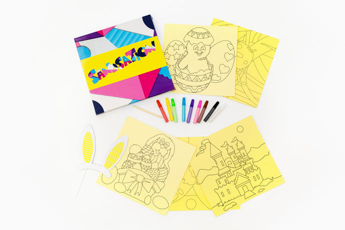 Girls Easter 5pc Sand Art Craft Pack