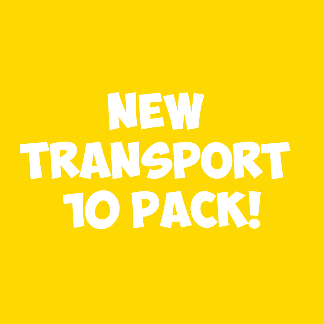 NEW Transport 10pc Sand Art Craft Pack