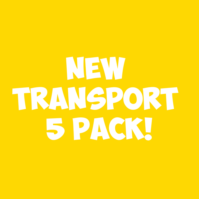 NEW Transport 5pc Sand Art Craft Pack