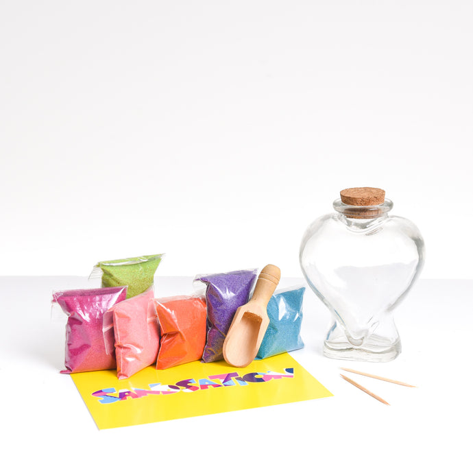 Large Heart Sand Bottle Kit