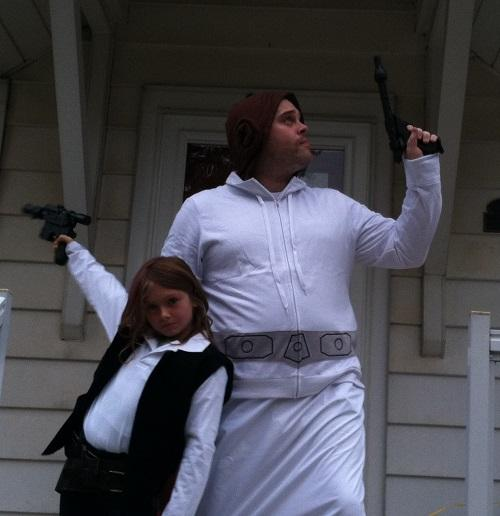 Dad and daughter absolutely rocking Star Wars!