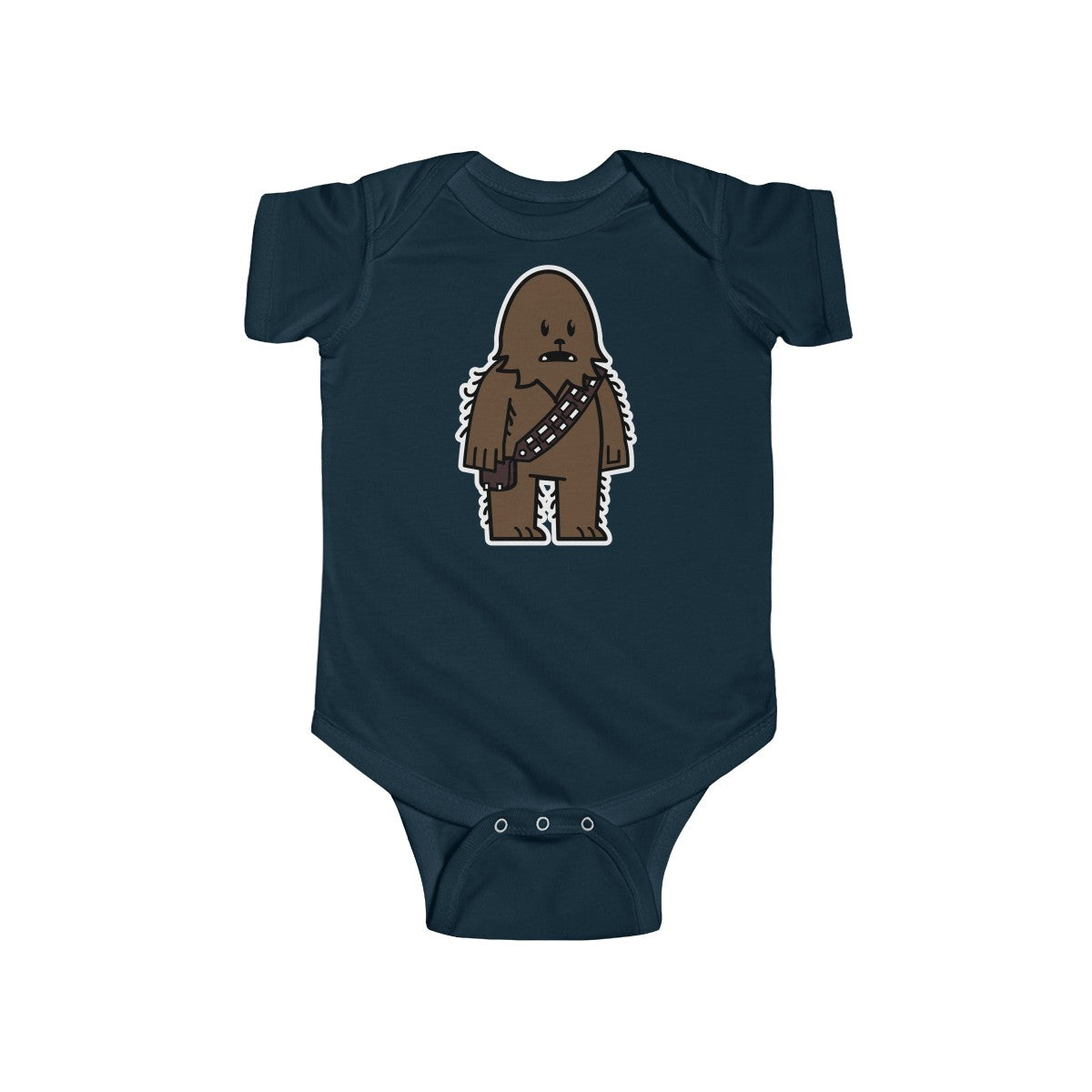 2674e2d96 Mitesized Wookie Chewbacca baby onesie in navy blue ...