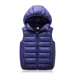 1e34010a46de Hooded Child Waistcoat Children Outerwear Winter Coats Kids Clothes Warm  Cotton Baby Boys Girls Vest For