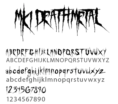 Fonts Death Metal Font Mind Killer Ink