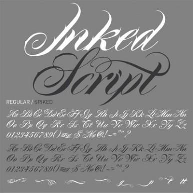Fonts Inked Script Pale Horse