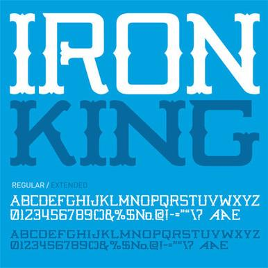Fonts Iron King Pale Horse