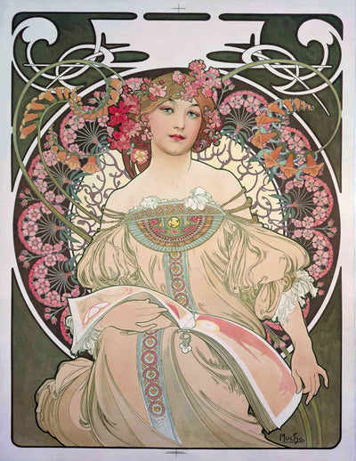 eBook Selected Works of Mucha Illustrated Monthly