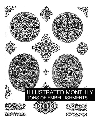 eBook Tons of Embellishments Illustrated Monthly