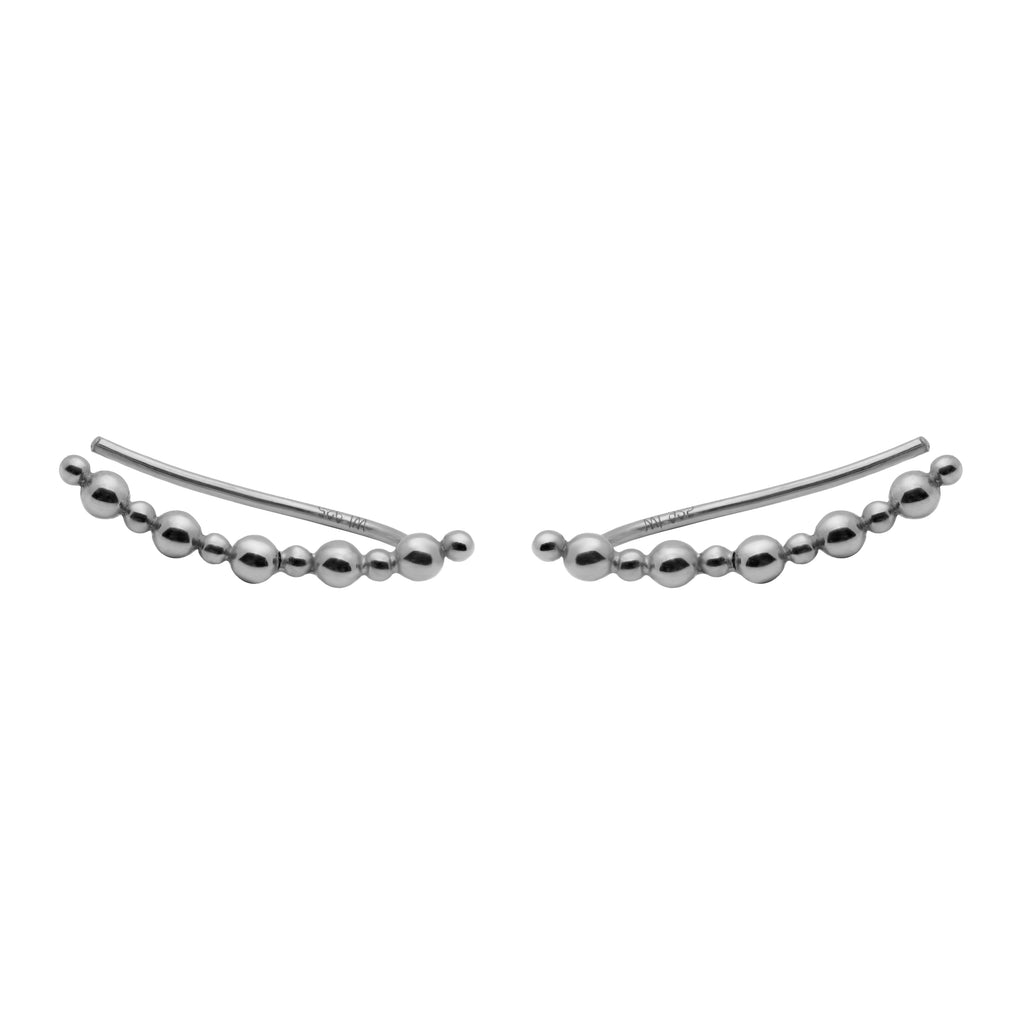 Stratos Ear Climber sterling silver
