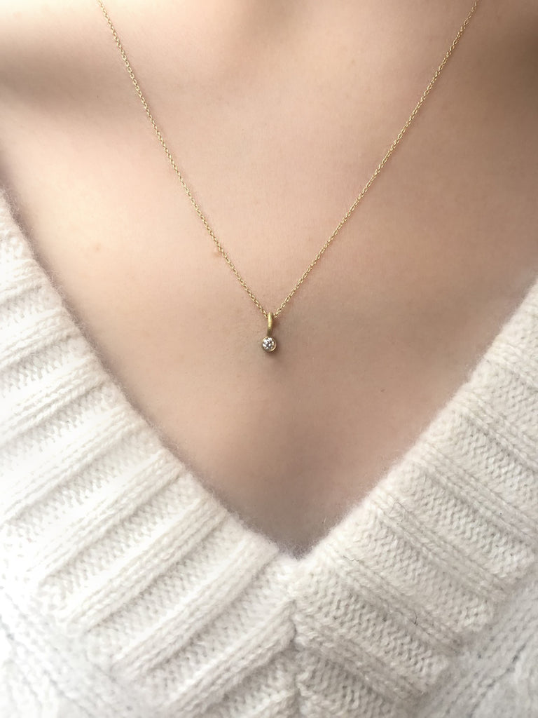 18K Floating Diamond Necklace