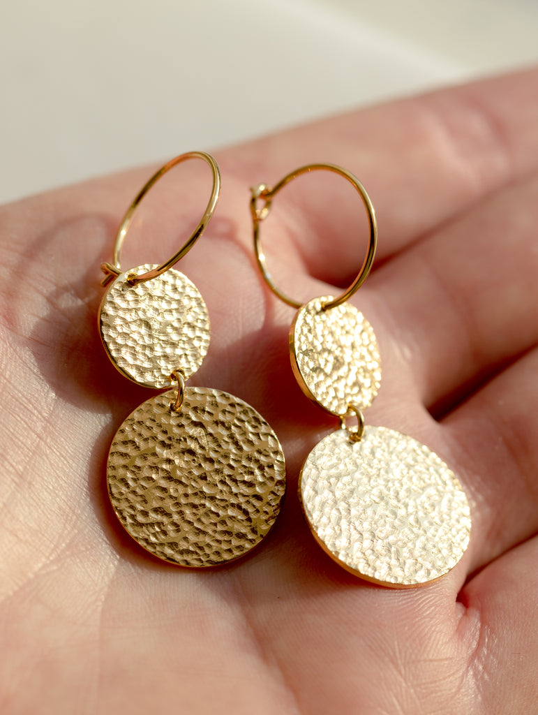 Disco Drop Earrings Small