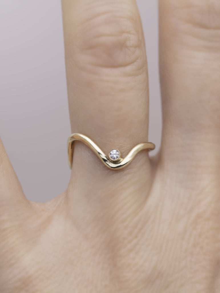 Wave Stone Ring