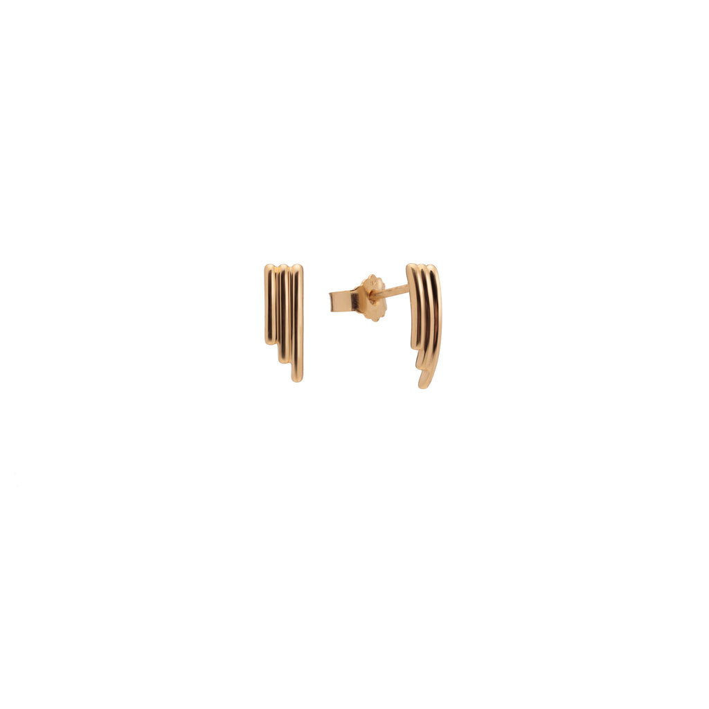 Oblique Mini Stud Gold