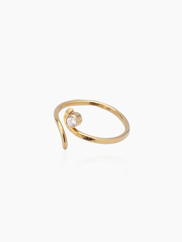 Open Wave stone ring