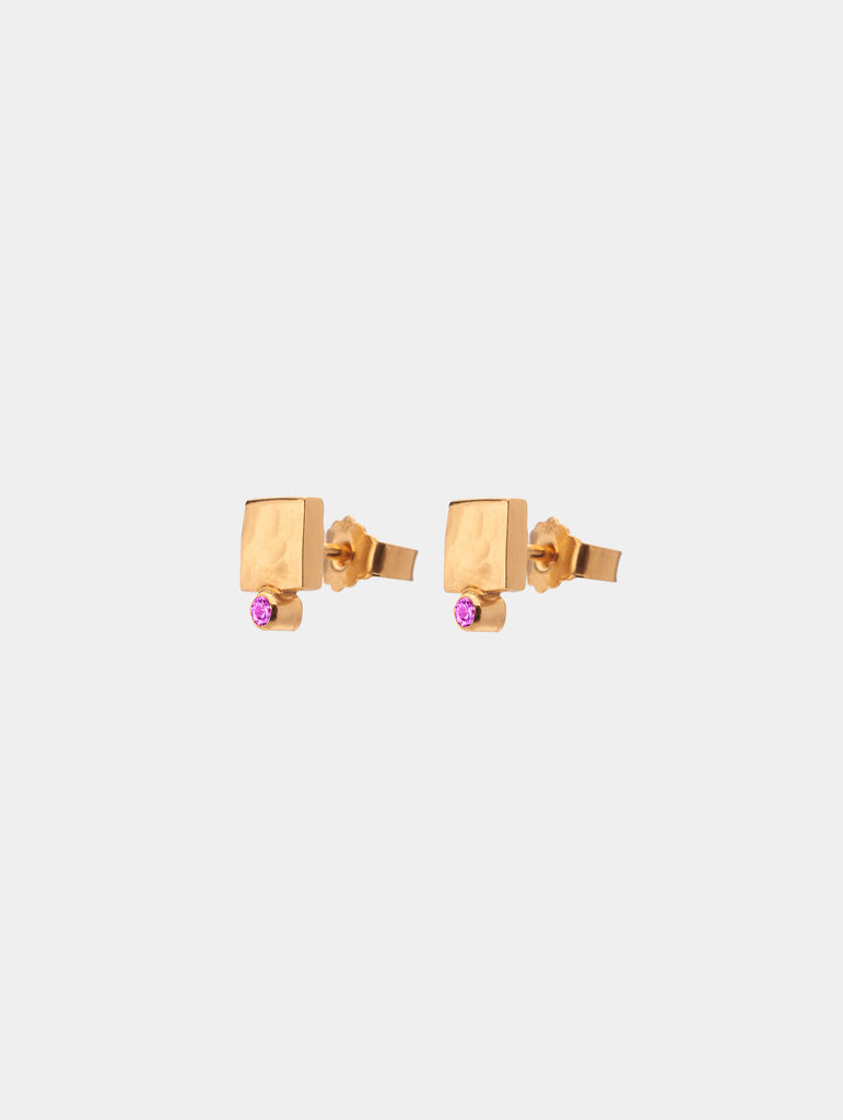 Shape Stud Earrings Gold - More colors available