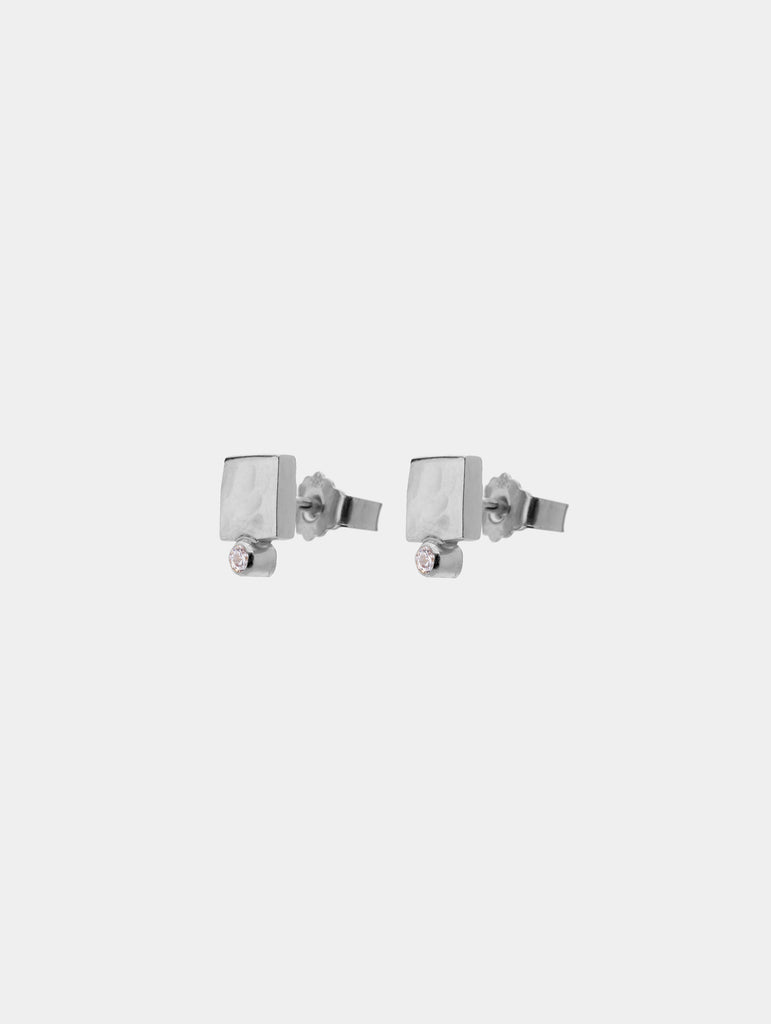 Shape Stud Earrings Silver - More colors available