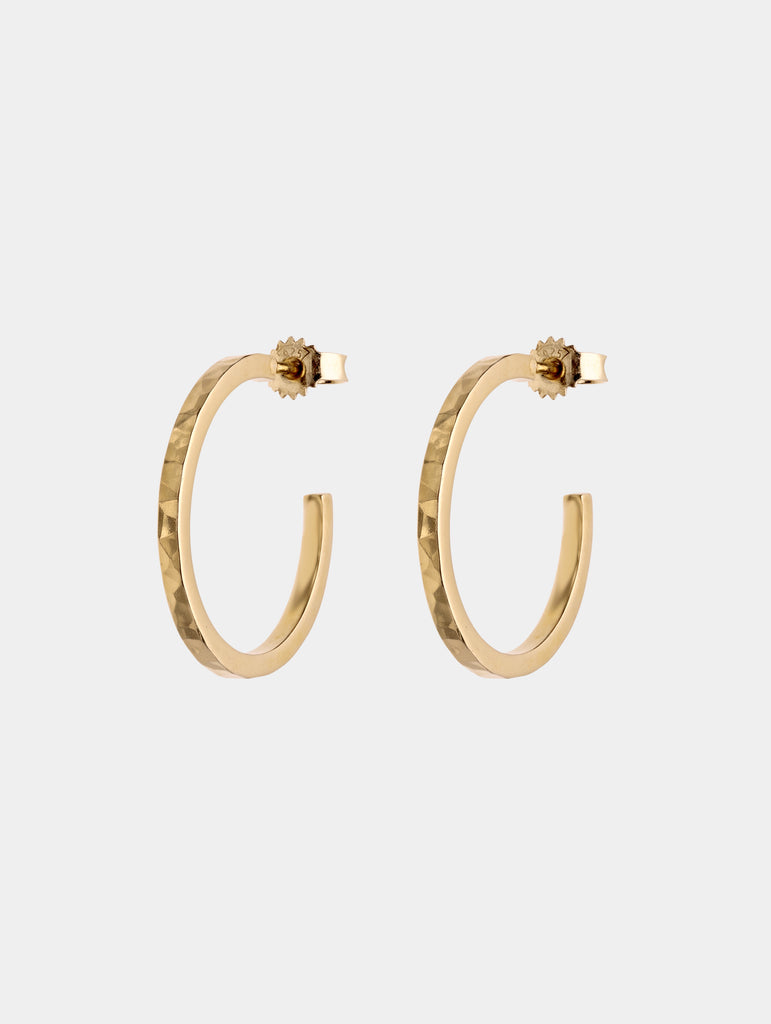 Square Hoops Gold