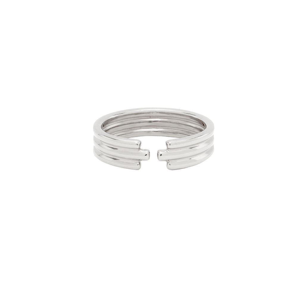 Open Triple Ring Silver