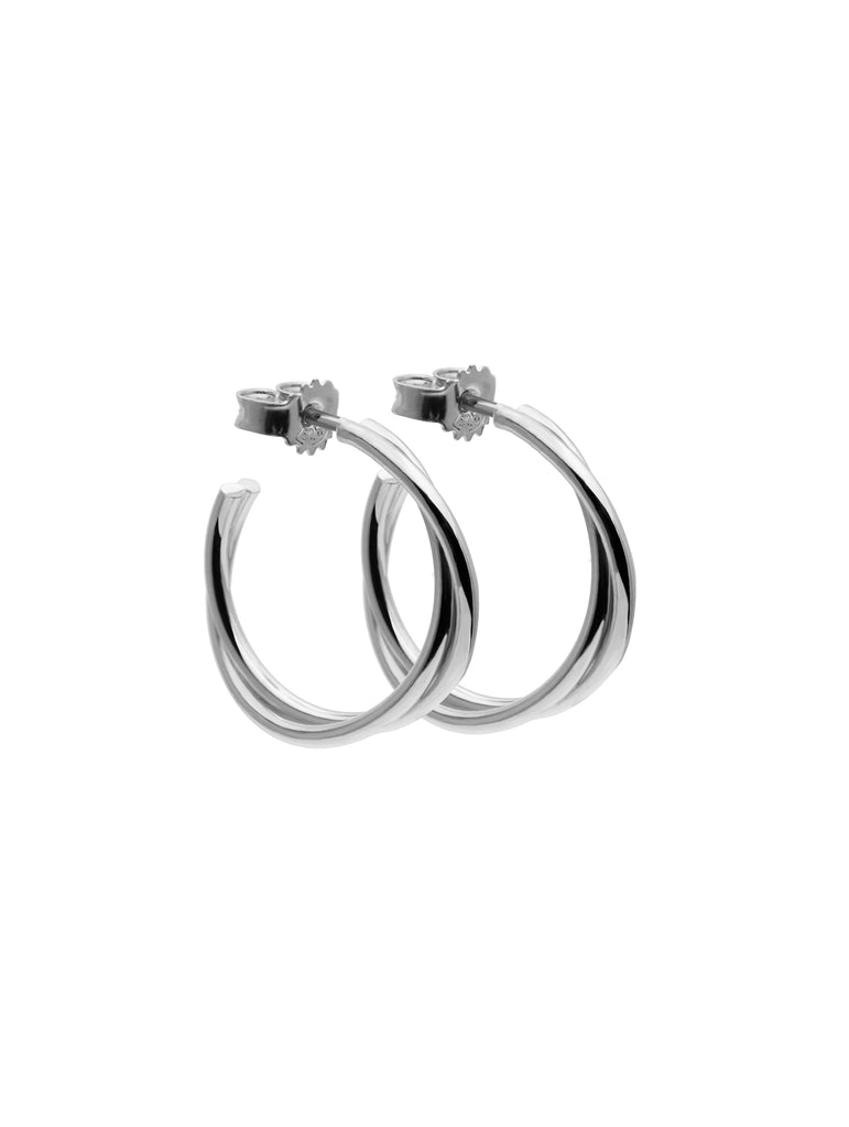 Twist Hoops Small Silver