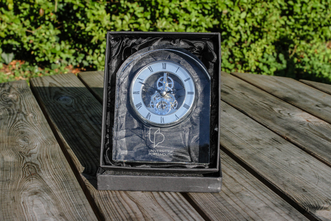 University of Portsmouth Engraved Clock