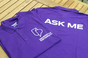 University Student Staff Purple Polo