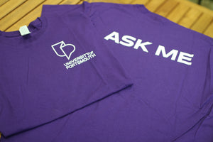 University Student Staff Purple T-Shirts