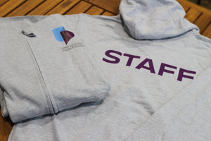 University Staff Grey Zipped Hoodie