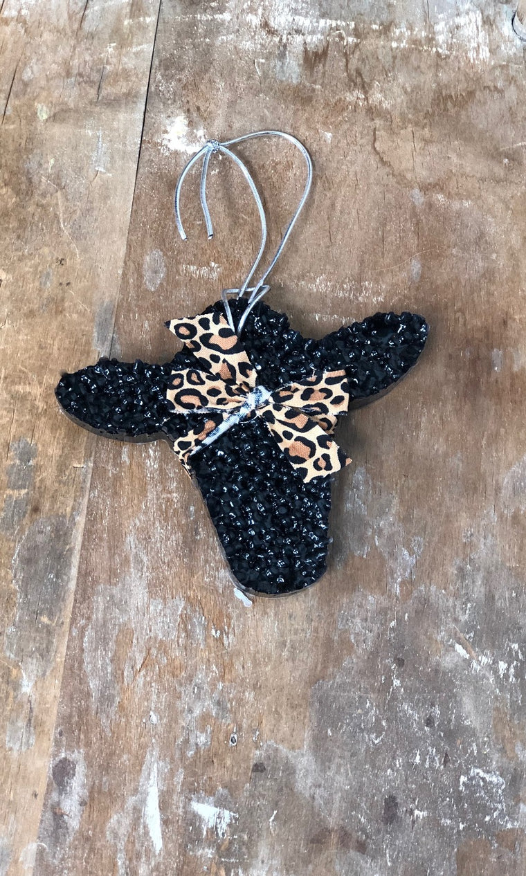 Car Freshener - Heifer with Leopard Bandanna