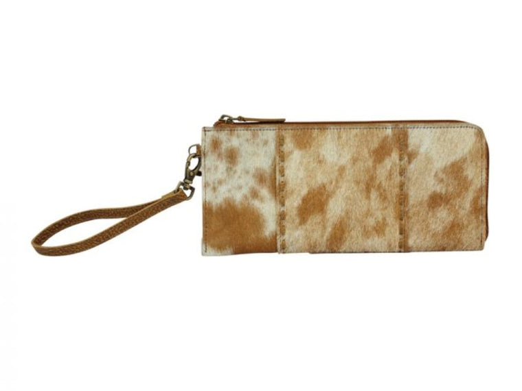 Myra Bag Brown Feathered Wallet