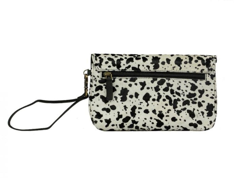 Myra Bag Frisky Black and White Wallet