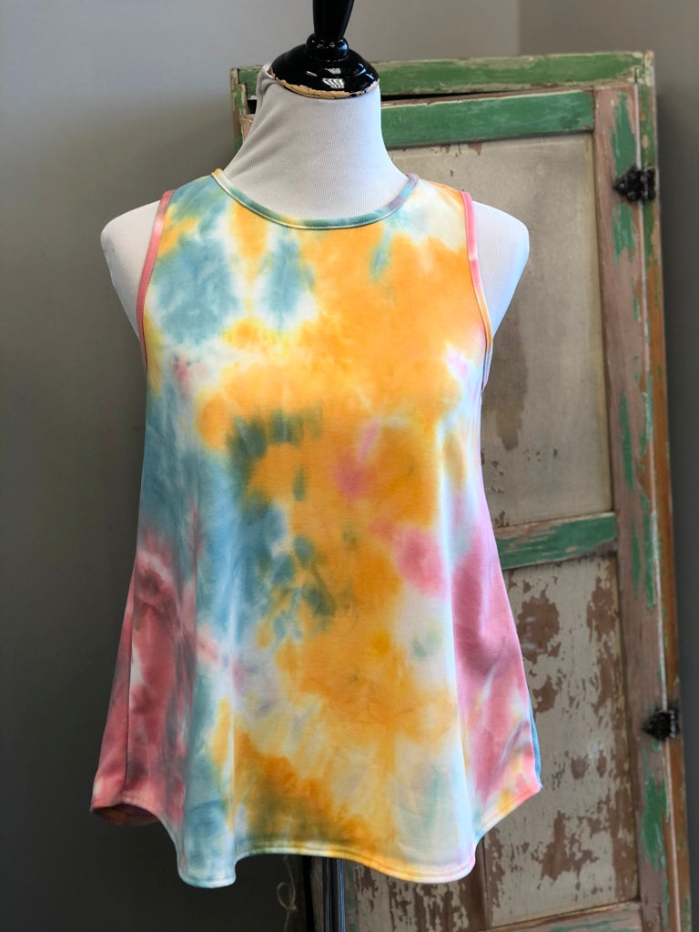 Totally Cool Tie Dye Soft Knit Tank Top