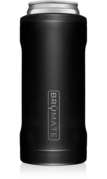 BrüMate Hopsulator Slim l Matte Black (12 oz slim cans)