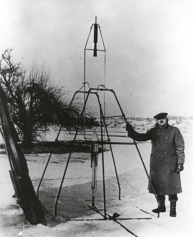 Robert Hutchings Goddard (1882 – 1945) was an American professor, physicist and inventor who is credited with creating and building the world's first liquid-fueled rocket, which he successfully launched on March 16, 1926.