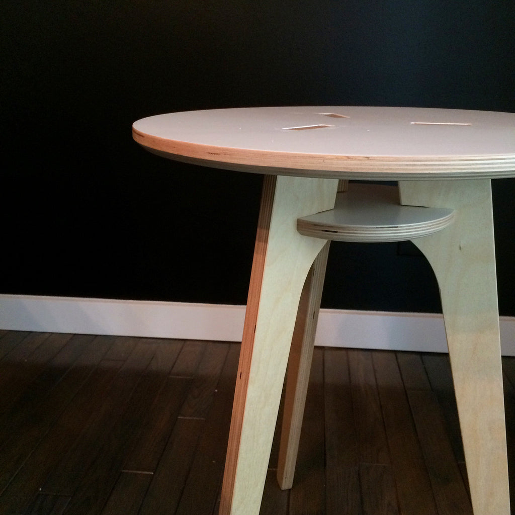 Baltic Birch Modern Side Table Rocket Mission