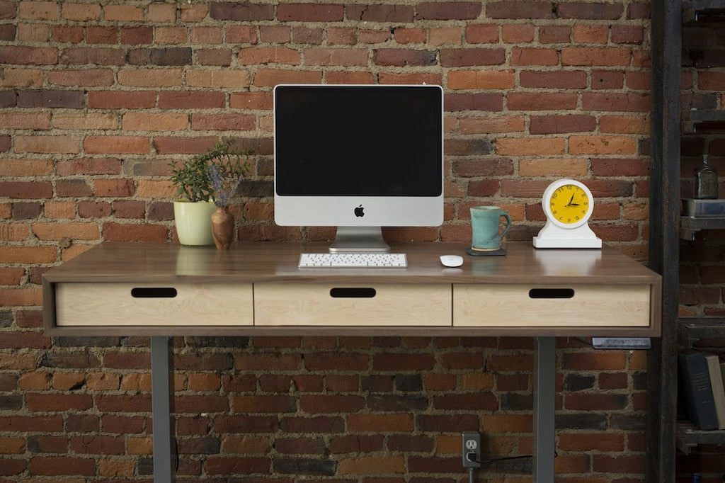 ... The Evolve   Modern Adjustable Standing Desk Featuring The Jarvis  Electric Base ...