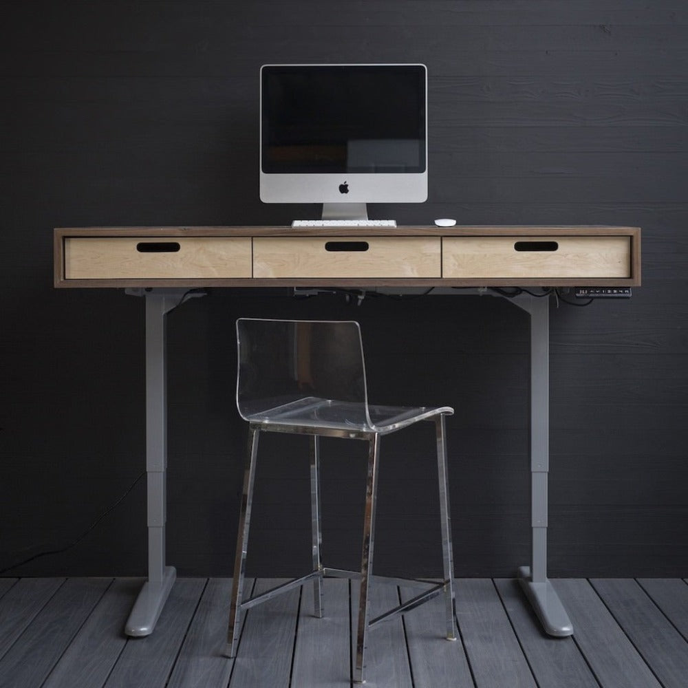 The Evolve - Electric Adjustable Standing Desk - Midcentury Modern Office Desk
