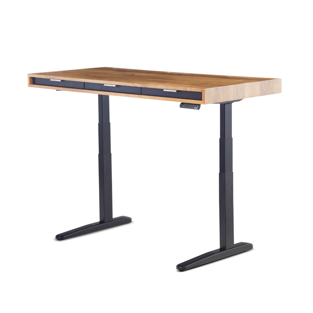 The Evolve Slim Sit Stand Desk Featuring The Jarvis