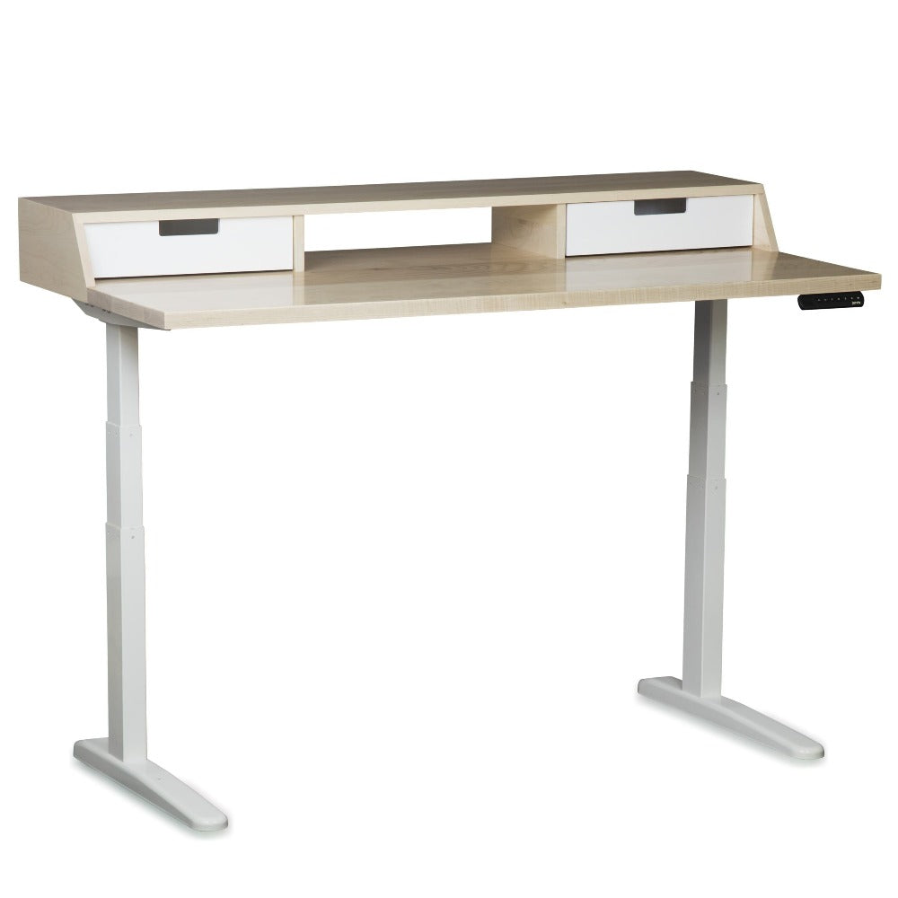 The Albright // Mid-Century Modern Adjustable Sit + Stand Desk