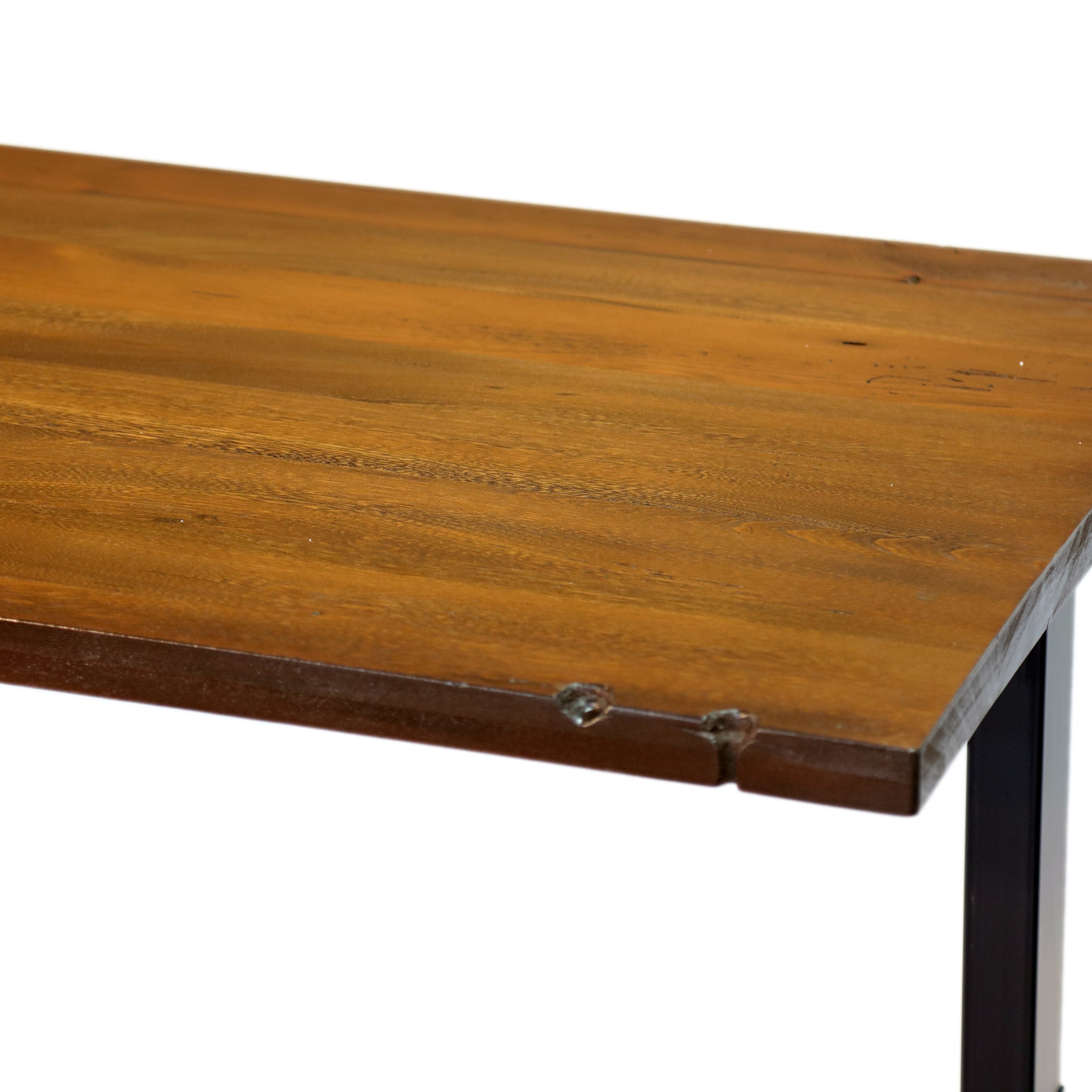 Reclaimed Wood Desk - Sit or Standing Reclaimed Solid Wood Desk  with Jarvis Electric Adjustable Standing Desk Base