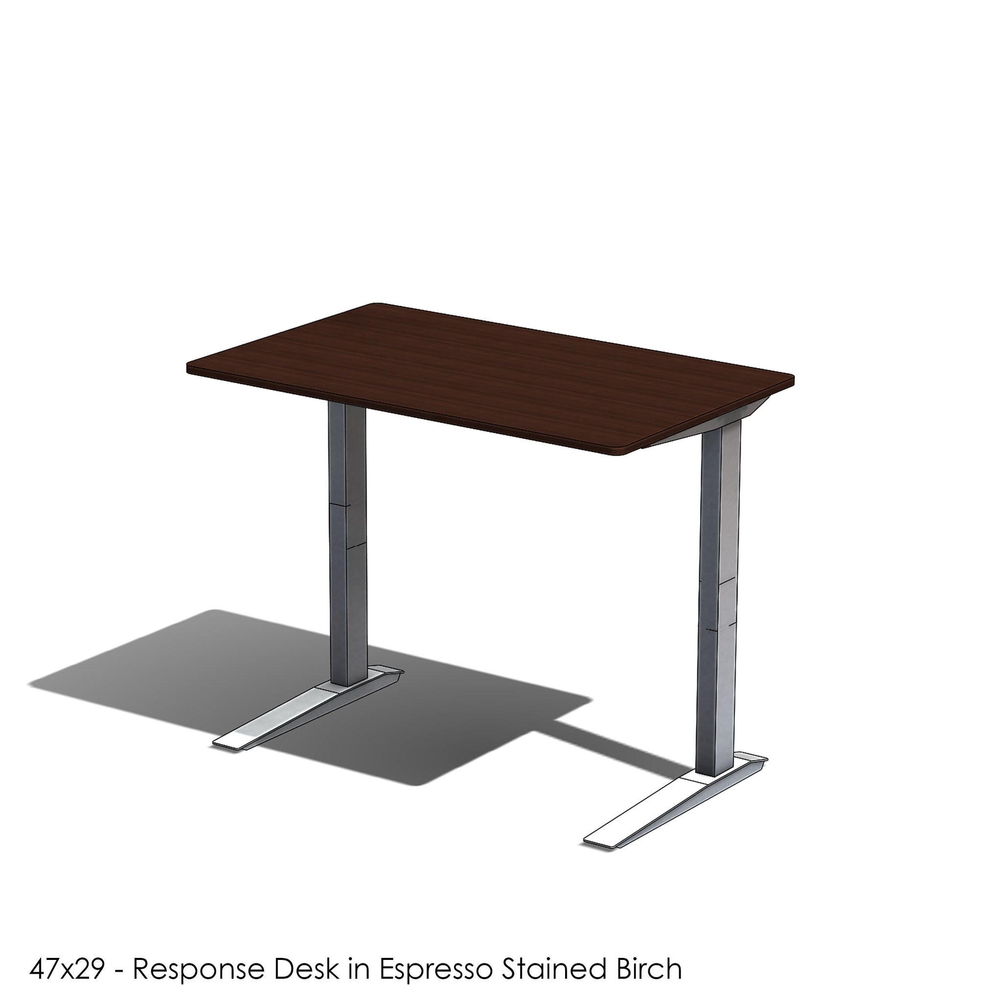Response Desk - Baltic Birch Slab Desk made in the color of your choice - Short Lead Time Adjustable Home Office Desk with Jarvis Desk Base