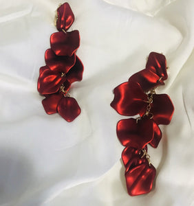 """Lèa"" Rose Petal Dangle earrings"