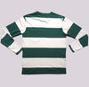 Green and White Long Sleeve T-shirt