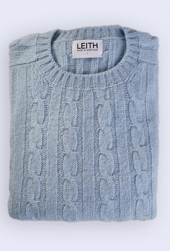 China Blue Cable Knit Shetland Jumper