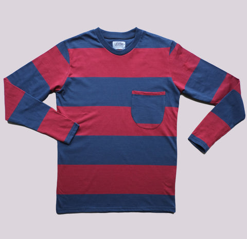 Red and Navy Long Sleeve T-shirt