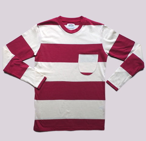 Red and White Long Sleeve T-shirt
