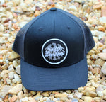 Black Trucker Snap Back
