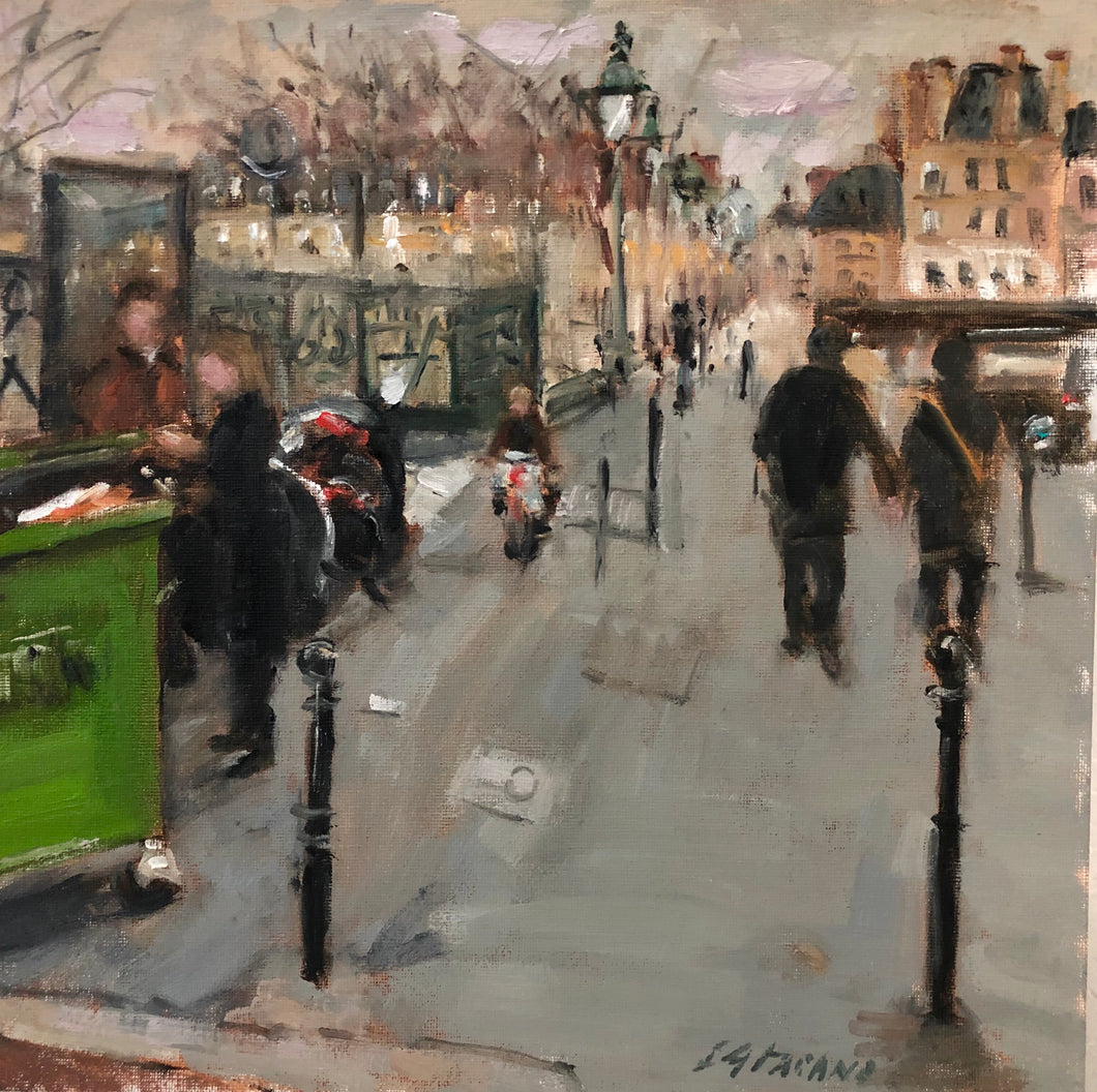 Afternoon in Paris | 12x12 | Original Oil Painting