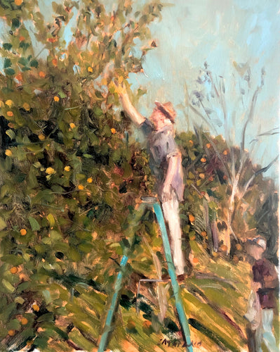 Orange Picking | 16X20 | Fine Art Print