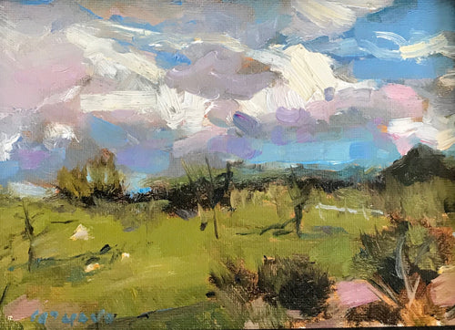 Moody Sky | 5x7 | Oil on Canvas